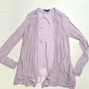 Simply Vera Wang Lavender Multi Layer Cardigan